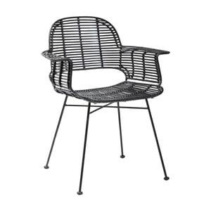 Čierna jedálenská stolička Kare Design Ko Lipe