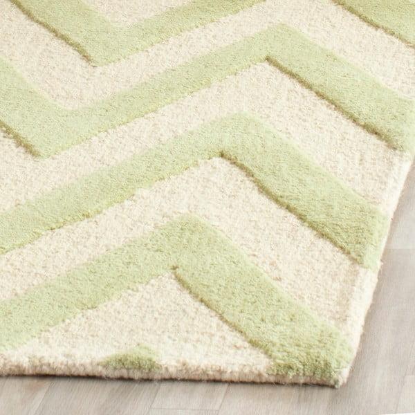 Vlnený koberec Stella Light Green, 152x243 cm