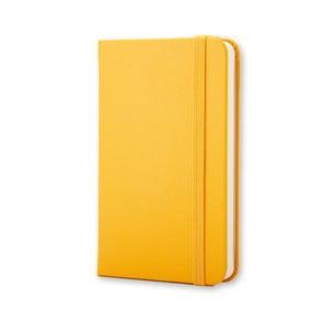 Žltý zápisník Moleskine Hard, extra malý, nelinajkový