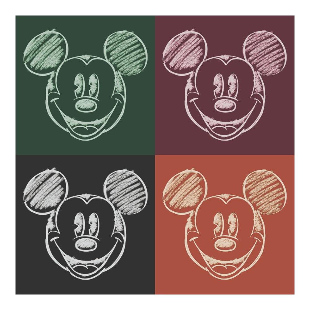 Obraz Pyramid International Mickey Mouse Chalk Faces, 40 × 40 cm