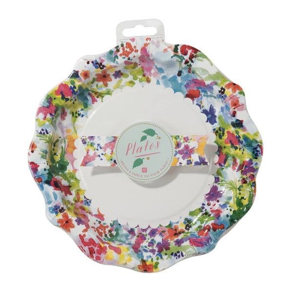 Sada 12 papierových tanierov Talking Tables Floral Fiesta
