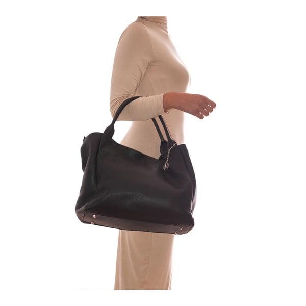 Čierna kožená kabelka Mangotti Ulmus