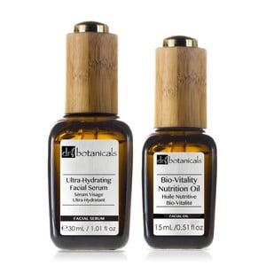 Set starostlivosti o pleť Dr.Botanicals Bio-Vitality Nutrition Oil a Ultra-Hydrating Serum