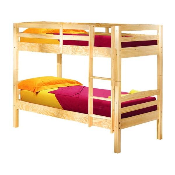 Drevená rozložiteľná poschodová posteľ 13Casa Ricky, 90 x 190 cm