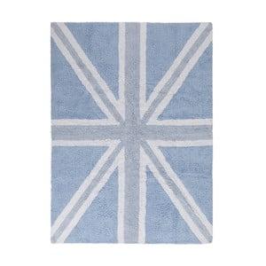 Modrý bavlnený ručne vyrobený koberec Lorena Canals UK, 120 x 160 cm