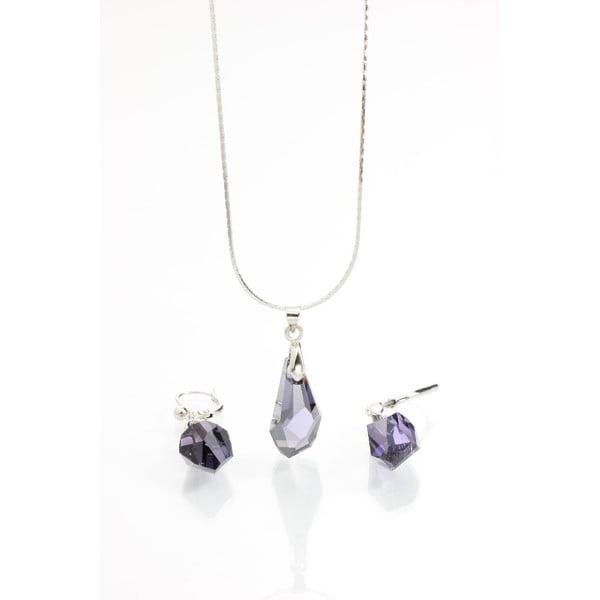 Set náhrdelníka a náušníc Yasmine Simplicity Dark