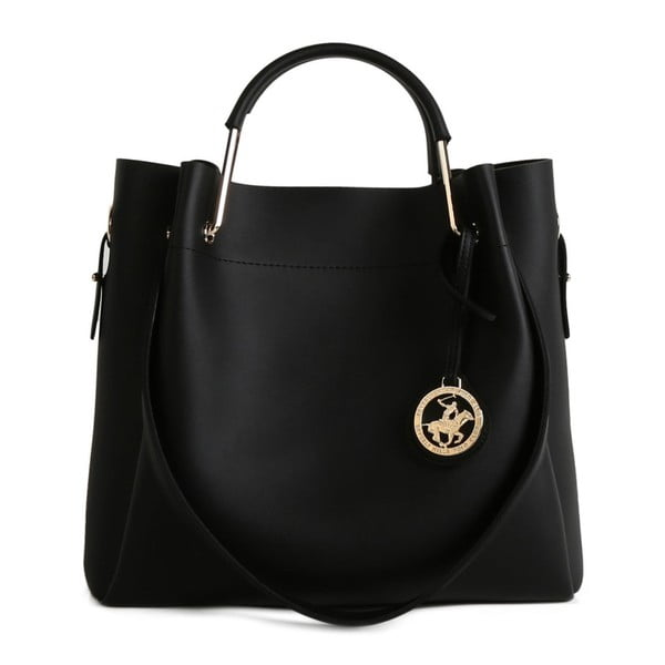 Čierna kabelka z eko kože Beverly Hills Polo Club Amy