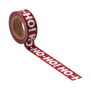Farebná lepiaca páska Butlers Ho Ho Ho, dĺžka 10 m
