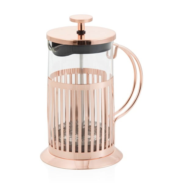 French press na čaj a kávu Brandani Rose Gold, 800 ml