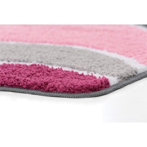 Sada 2 kúpeľňových predložiek s výrezom Lift Pink