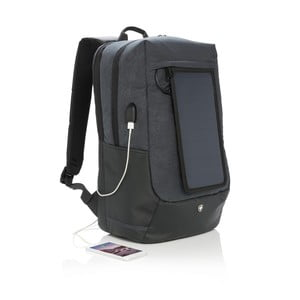 Batoh na notebook so solárnym panelom a 3 USB portami Swiss Peak