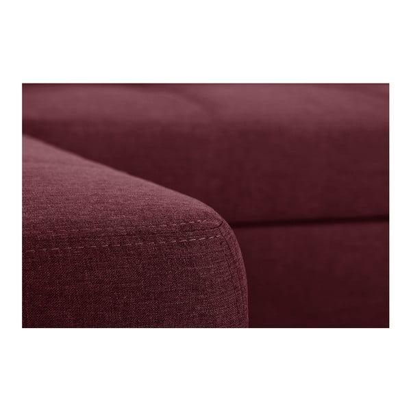 Ružová rozkladacia pohovka Modernist Pashmina, ľavý roh