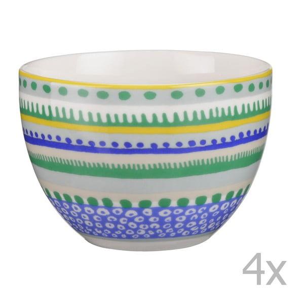 Sada 4 porcelánových misiek / hrnčekov Oilily 10 cm, zelená