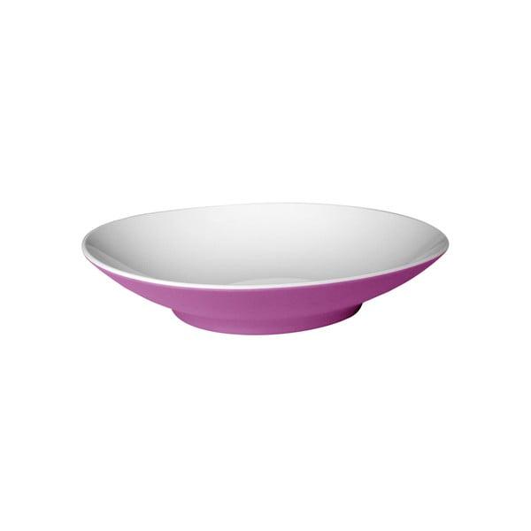Fialový polievkový tanier Entity, 22,2cm