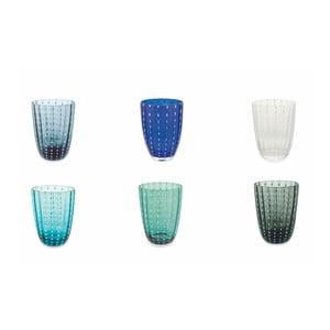 Sada 6 pohárov v studených farbách Villa d´Este Kalahari
