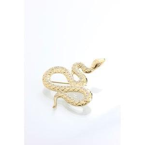 Brošňa Yasmine Snake Golden