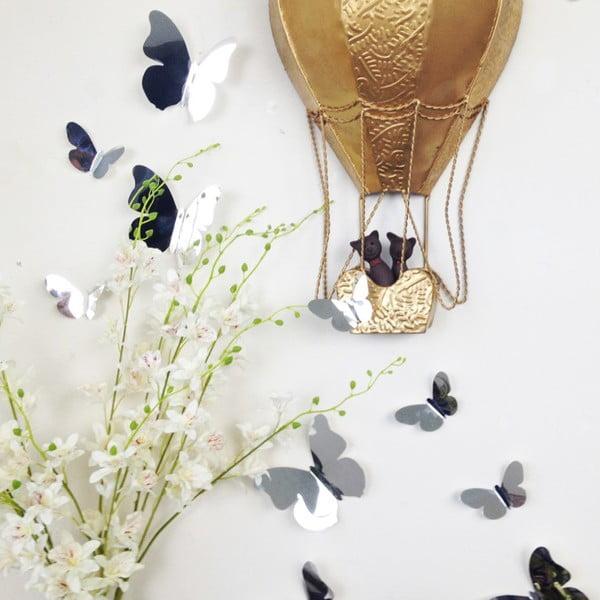 Trojrozmerné samolepky - motýlikovia, zrkadlo