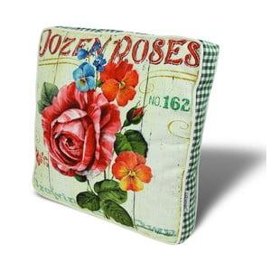 Podsedák s výplňou Roses, 42x42 cm
