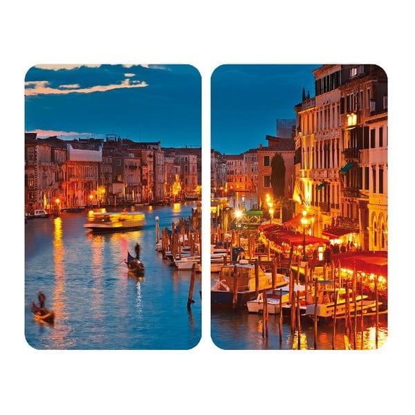 Sklenený kryt na sporák Venice, 2 ks