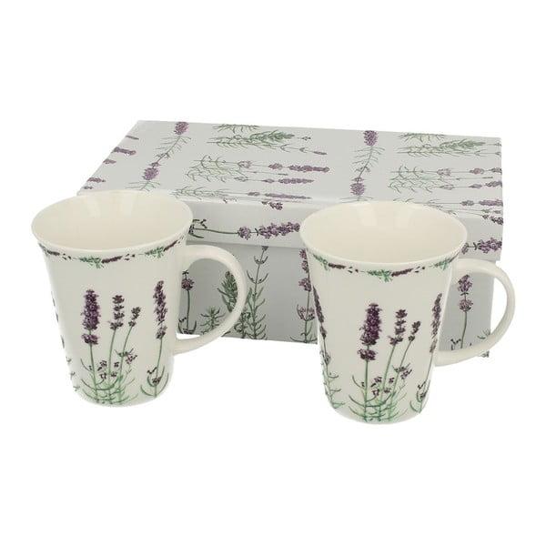 Set 2 porcelánových hrnčekov Lavender