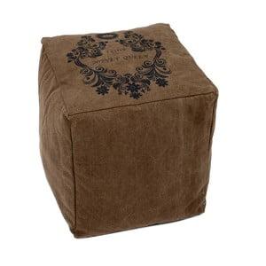 Puf Fabric Brown, 40x40x45 cm