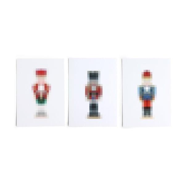 Sada 3 kartičiek SNUG.Pixel