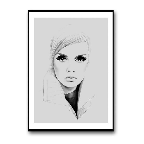 Autorský plagát Twiggy in Grey, 30x40 cm