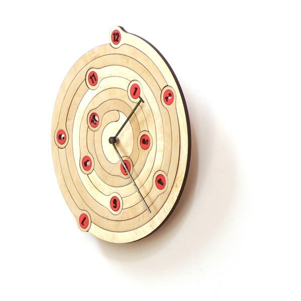Drevené hodiny Spiral, 29 cm