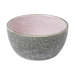 Sivá kameninová miska s vnútornou glazúrou v ružovej farbe Bitz Mensa, priemer 10 cm