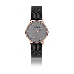 Unisex hodinky s remienkom z antikoro ocele v čiernej farbe Frederic Graff Eiger