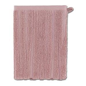 Ružová rukavica na umývanie Kela Lindano, 15x21cm