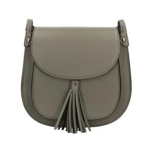 Sivá kožená kabelka Roberto Buono Kara