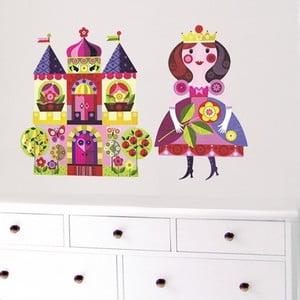 Samolepka na viac použití Princess and Castel