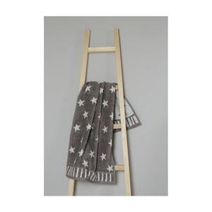 Hnedý bavlnený uterák My Home Plus Stars, 50×90 cm