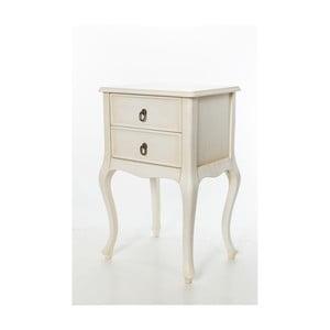 Odkladací stolík Cream Vintage, 46x33x70 cm