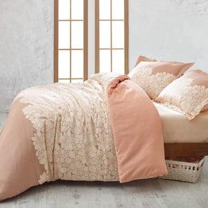 Sada prehozu, plachty a obliečky na vankúš Marie Claire Peinture Pastel, 200x220 cm