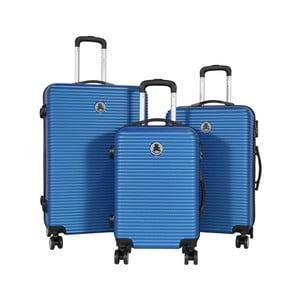 Sada 3 modrých cestovných kufrov LULU CASTAGNETTE Mia
