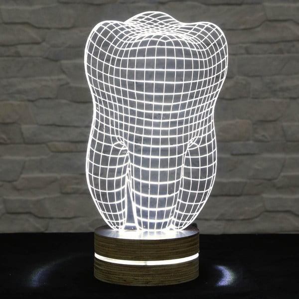 3D stolová lampa Tooth