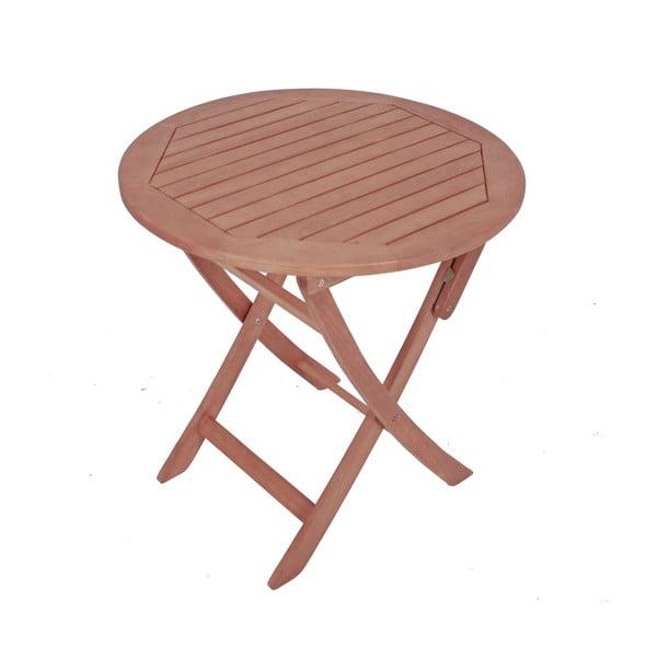 Záhradný skladací stôl z eukalyptového dreva ADDU Stockholm, Ø70 cm