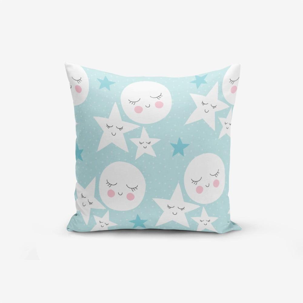 Obliečka na vankúš s prímesou bavlny Minimalist Cushion Covers With Points Moon Star, 45 × 45 cm