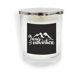 Biela sviečka North Carolina Scandinavian Home Decors Motto Glass Candle V5