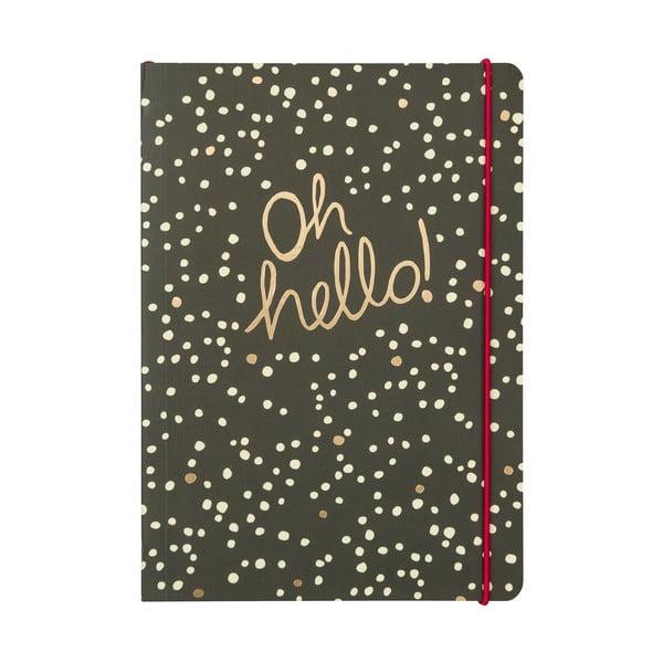 Linajkový zápisník B5 Portico Designs Hello, 80stránok