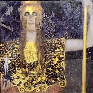 Reprodukcia obrazu Gustav Klimt - Pallas Athene, 40x40cm