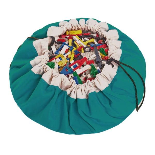 Podložka na hranie a vrece na hračky v jednom Play and Go Classic Turquoise