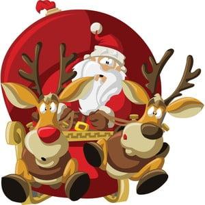 Vianočná samolepka Ambiance Santa Claus Fast Pace