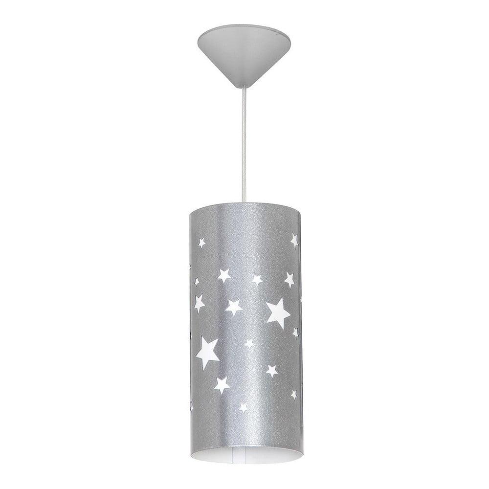 Sivé závesné svietidlo Glimte Stars Small
