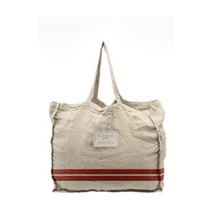Látková taška Linen Red Stripes, šírka 50 cm