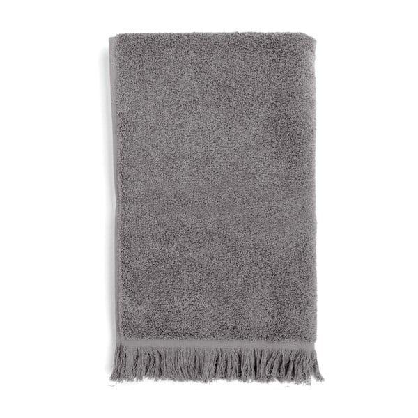 Sada 4 sivých bavlnených uterákov Casa Di Bassi Soft, 50x90cm