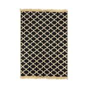 Tmavomodrý koberec s béžovým vzorom Ya Rugs Tan, 80×150cm