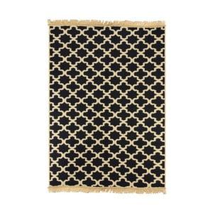 Tmavomodrý koberec s béžovým vzorom Ya Rugs Tan, 72x150cm